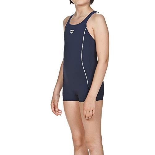 ARENA Mädchen Badeanzug mit Bein Finding, Navy-White, 164
