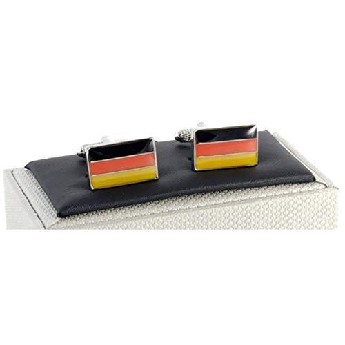 Boutons de manchette Drapeau de l'Allemagne en Boîte Onyx Art – Drapeau Allemand