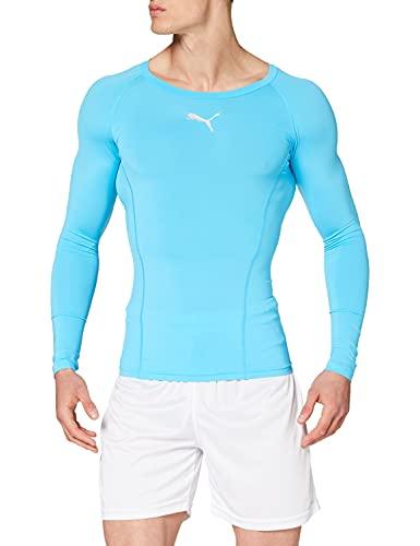 PUMA Liga Baselayer Tee LS sous-Vêtements Fonctionnels Homme, Aquarius, Medium