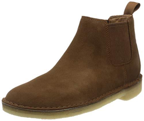 Clarks Herren Desert Chelsea Boots, Braun (Cola Suede Cola Suede), 45 EU