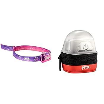 PETZL TIKKID Lampe Frontale Mixte Adulte, Rose, Taille Unique & NOCTILIGHT - étuis pour équipements (Petzl, TIKKINA, TIKKA, ZIPKA, ACTIK, ACTIK CORE, REACTIK, REACTIK +, 85 g), Noir/Orange