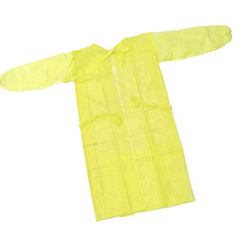 『100枚入り イエロー 使い捨て防の護の服 フリーサイズ 男女兼用』の7枚目の画像