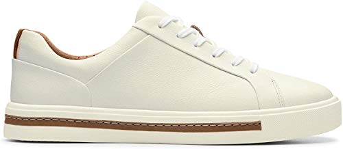 Clarks Damen Un Maui Lace Sneaker, Weiß (White Leather), 42 EU