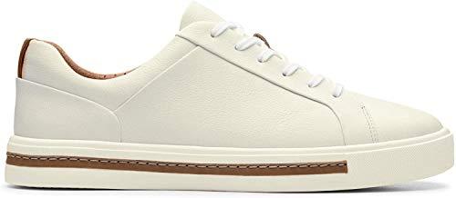 Clarks Damen Un Maui Lace Sneaker, Weiß (White Leather), 37 EU
