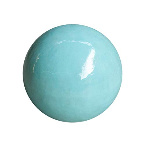 Teramico Dekokugel Gartenkugel glasiert -Blau, Grün, Anthrazit, Türkis, Aqua- sehr hochwertig frostfest und witterungsbeständig Steinzeug (28cm, Celadon)