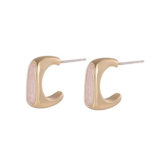 JIAQINGRNM Pendientes para mujer 2021 simples aretes geométricos en forma de C con temperamento, pequeños pendientes para las orejas, regalos para las mujeres, las niñas, la esposa y la madre