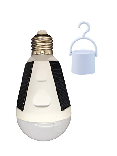OALUX 12W Solar LED Bulb Portable Emergency Light Rechargeable Lamp for Outdoor & Indoor Lantern Still Works After Outages Waterproof IP65/1 Pack