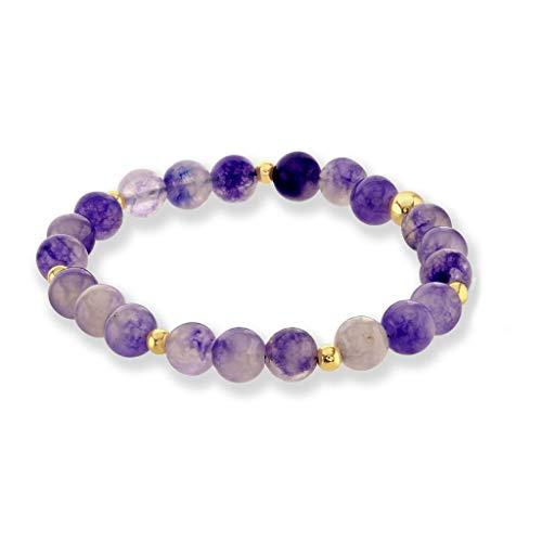 Believe London Amethyst Bracelet Gemstone Healing Chakra Anxiety Crystal Natural Stone Men Women Stress Relief Reiki Yoga Diffuser Semi Precious