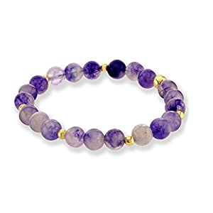 Believe London Amethyst Bracelet Gemstone Healing Chakra Anxiety Crystal Natural Stone Men Women Stress Relief Reiki Yoga Diffuser Semi Precious