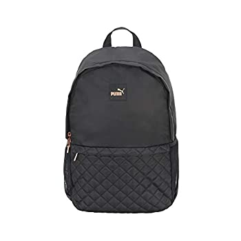 PUMA Women s Lux Quilted Backpack Black/Pink/Black One Size