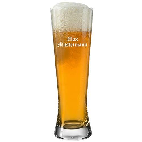 Leonardo Weizenglas 0,5l Bionda mit Gravur – Bierglas mit individueller Namensgravur, Biergläser mit Teqton Qualität, Weißbierglas und Weizenbierglas