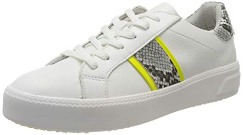 Tamaris Damen 1-1-23750-24 Sneaker, Weiß (White/NEON 139), 39 EU