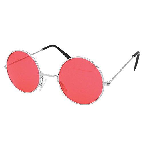 Bristol Novelty BA1054 Lennon-Brille, rot, Unisex, Erwachsene, Einheitsgröße