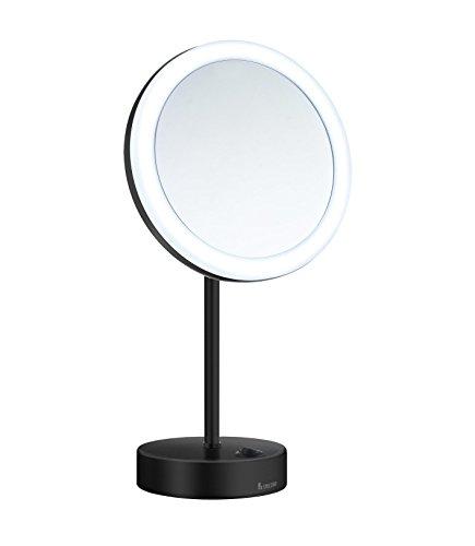 SMEDBO Kosmetikspiegel OUTLINE Spiegel LED Beleuchtung matt schwarz FK484EB