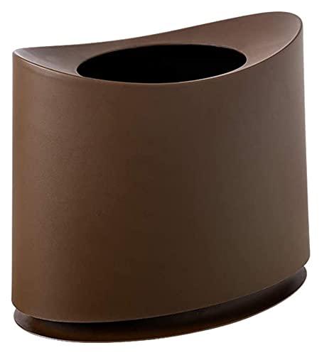 Papeleras Abra la lata de basura abierta, papel de basura extraíble interior de la bandera del forro delgado de la bandera delgado para el baño de baño de la oficina Dormitorio Dorm-Coffee Color 30x30
