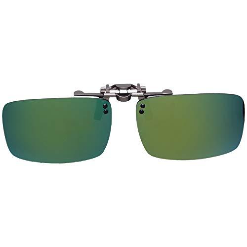 GoodsLand 【 8color 】 クリップオン サングラス 偏光 釣り 運転 調光 眼鏡 メガネ クリップ式 メンズ レディース GD-CL-GLASS-MRGD
