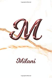 Milani: Sketchbook | Blank Imaginative Sketch Book Paper | Letter M Rose Gold White Marble Pink Effect Cover | Teach & Practice Drawing for ... Doodle Pad | Create, Imagine & Learn to Draw
