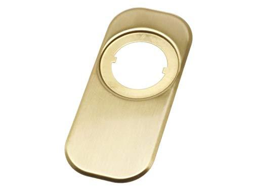 Embellecedor Para Puerta Escudo Seguridad Amig 10-165x74 Latón Compatible Con Escudo Amig 65 Mm Mod 30-31