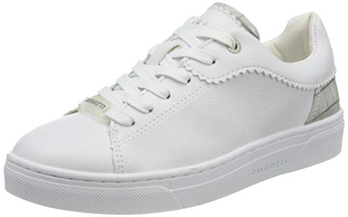 bugatti Damen 432877035058 Sneaker, White/Light Grey, 40 EU