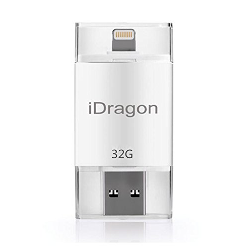 LOTUS POWER Mobile 32GB USB Flash Drive con connettore Support iOS 12 for iPhone XS/XS Max XR/XR Max/X/8/8 Plus 7/7 Plus 6S/6S Plus 6/6 Plus iPad Mini 3 iPad Aircompatible con iOS 12