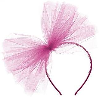 Unbekannt Haarreifen in pink mit Pinker Schleife aus Tüll f