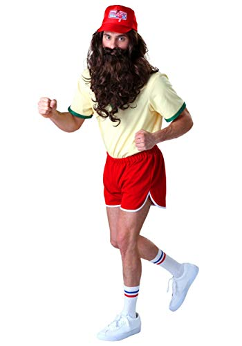 Forrest Gump Running Costume Set with Wig/Beard Large White