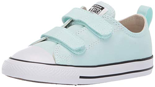 Converse Girls Infants' Chuck Taylor All Star 2019 Seasonal 2V Low Top Sneaker, Teal Tint/Natural Ivory/White, 9 M US Toddler
