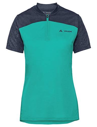 VAUDE T-shirt pour femme Tremalzo IV, Femme, T-shirt, 40867, Bleu canard, Taille 40