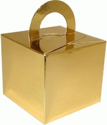 Lot de 10 ballons à hélium avec poids mariage faveur boîtes cadeau-Or
