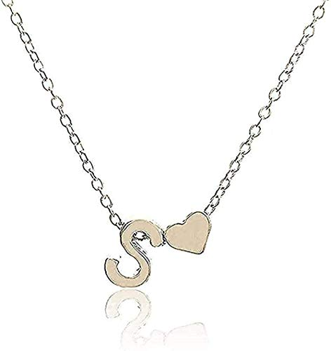 BEISUOSIBYW Co.,Ltd Collar de Moda Collar Inicial Personalidad Letra Nombre Collar Colgante Joyas de Oro Collar de Regalo Regalo