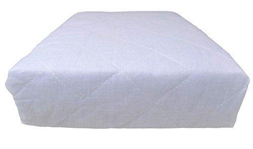 2 x simple qualité Hôtel Matelassé Luxe Blanc Profond monté anti ALLERGÉNIQUE Matelas Protecteurs 92 x 191 x 25cm