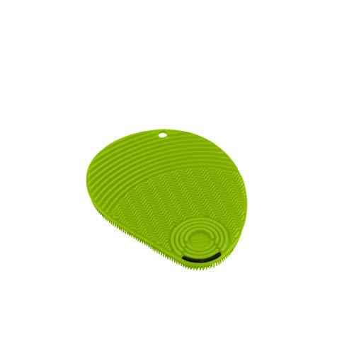 KUHN RIKON - Esponja Estropajo de Silicona con rascador para Limpieza (Verde, Silicona, Suave, 130 mm, 100 mm)