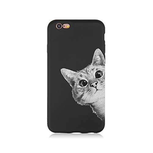 iPhone 6s case, Shockproof, Scratch, Protective Cover, iPhone 6 / 6s 4.7in, Art, Cats, Stylish, Cover case (Black line005)