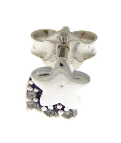 Pandora Meine Sternschnuppe Einzelner Ohrstecker, 298549C01, Silber, 0,55cm