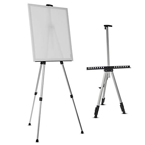 LIVIVO Professional Folding Adjustable Artist Field Studio Telescopic Painting Stand Holder Easel Display Tripod with Carry Bag