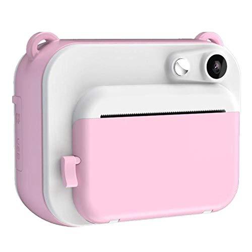 Calistouk La cámara para niños con Mini cámara Digital instantánea DIY de 2 Pulgadas Imprime automáticamente Fotos en Blanco y Negro