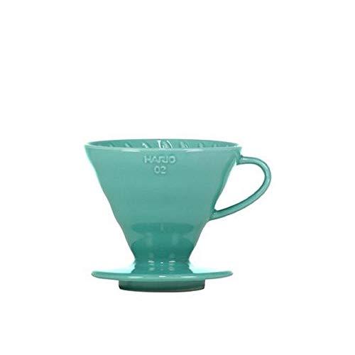 HARIO V60-02 - Vaso de café cerámico, color azul