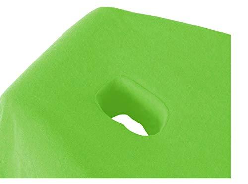 Exklusiv sábana bajera de heimtextil Camilla de masaje Rizo con nariz Ranura Marca, verde manzana, 70-80 x 190 -200cm ✅