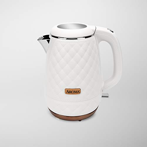 Aroma Professional AWK-3000 Surgical Grade 316 Stainless Steel Electric Water Kettle, 1.2L, White