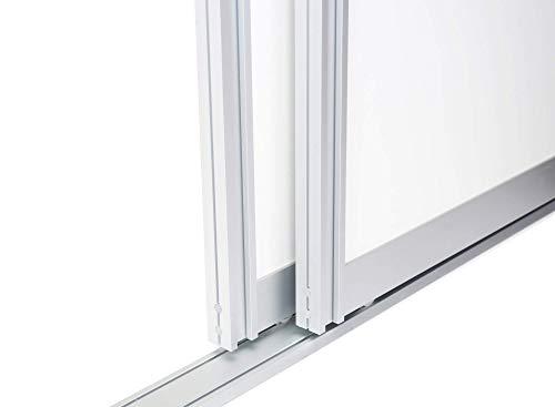 Schiebetürbausatz inkl. Aluminium Rahmentyp A | Inkl. Beschläge für 2 Türen, max. Flügelmaße: 1064 x 2700 mm | Füllung kommt von Ihnen | Boden- und Deckenschiene in 2000 mm