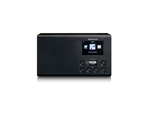 """Lenco DIR-60 - tragbares Internetradio - WLAN Radio mit DAB+ und FM - 2,4"""" TFT LCD-Display - 2 Watt RMS - Equalizer - Wettervorhersage - AUX-EIN und Ausgang - schwarz"""