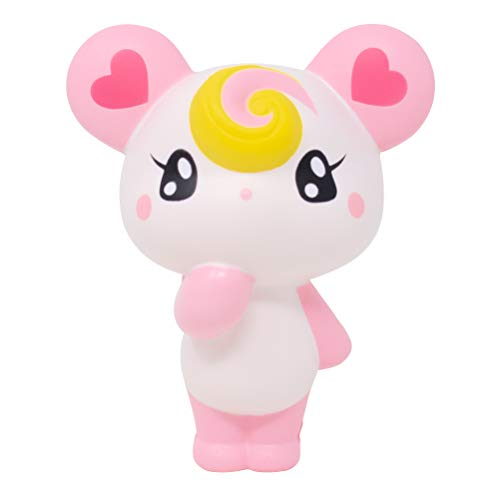 iBloom Lollipop Girl Bear Slow Rising Squishy Toy (Lola, Strawberry Scented, 4.7 Inch) [Kawaii Squishies for Party Favor, Stress Ball, Birthday Gift]