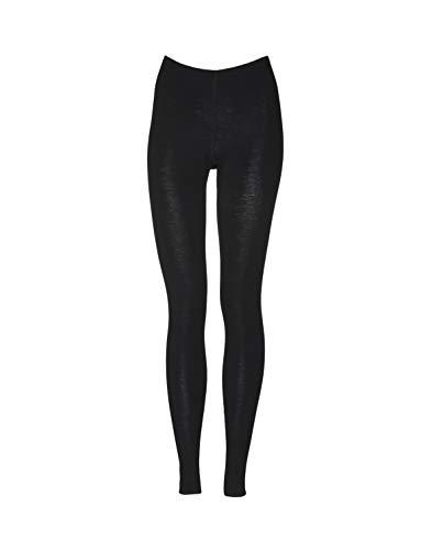 Dilling Merino Leggings für Damen - aus 100% Bio-Merinowolle Schwarz 36