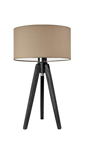 SABA - Lámpara de escritorio con pantalla de lámpara, color beige y negro