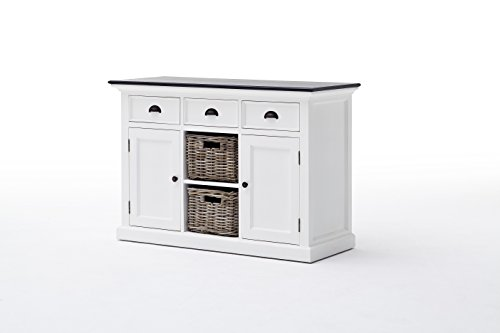 NovaSolo-Halifax-Contrast-Pure-White-Mahogany-Wood-Sideboard-Dining-Buffet-With-Storage-3-Drawers-And-2-Rattan-Baskets
