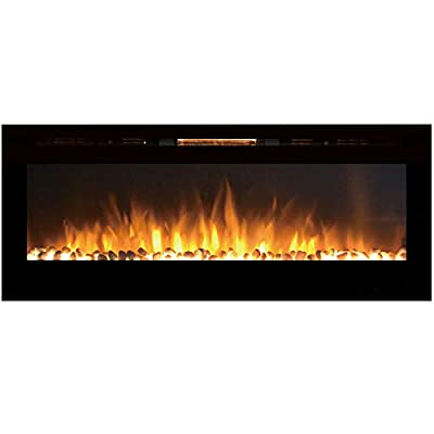 """Regal Flame Astoria 60"""" Pebble Built-in Ventless Recessed Wall Mounted Electric Fireplace Better than Wood Fireplaces, Gas Logs, Inserts, Log Sets, Gas, Space Heaters, Propane"""