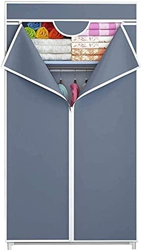 Armario Cuarto Pequeño Portátil Estabilidad Portátil Closet Organizador de Almacenamiento Montaje Organizador UOMUN (Color : Blue, Size : 70x45x155CM/27x18x61in)