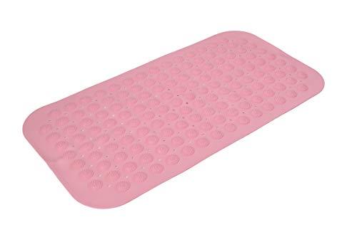 Univarcブランド 吸盤付き 浴槽用 すべり止めマット バスマット ピンク 吸盤 浴槽用 滑り止めマット 転倒防止 桃色 U00100
