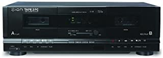 ION Audio Tape 2 PC | USB Cassette Deck Conversion System with RCA & USB cables