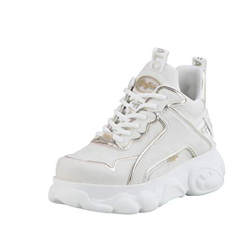 Buffalo Zapatillas altas para mujer Corin, color Blanco, talla 38 EU